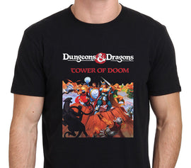 Dungeons And Dragons Retro Tower Of Doom Classic Game O-Neck Short-Sleeve Shirt