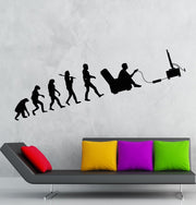 Gamer Evolution Video Game Room Art Wall Decal Sticker