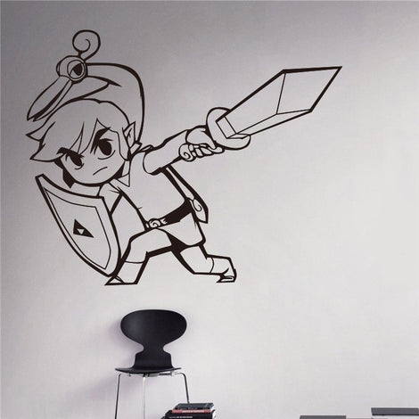 Legend of Zelda Minish Cap Link Wall Art Decal Sticker