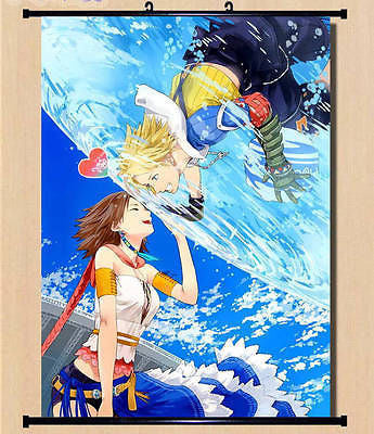 Final Fantasy X Tidus Yuna Wall Poster Scroll