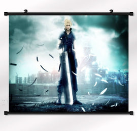 "Final Fantasy VII Cloud Advent Children Wall scroll Poster 22"" x 16"""