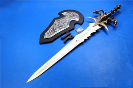 World of Warcraft Arthas Magical Frostmourne Real Steel Sword Replica High Quality with Wall Mount