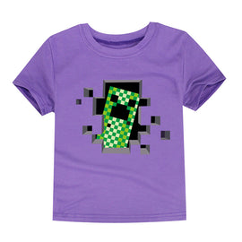 Childrens Creeper Minecraft Themed T Shirt