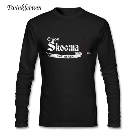 Enjoy Skooma Elder Scrolls Skyrim Themed Long Sleeve Shirt XS-XXL