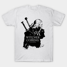 Witcher Is Coming - Short Sleeve Cotton T-Shirt