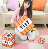 Minecraft Themed Cotton Stuffed TNT Plush Toy