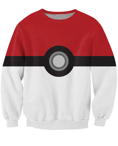Pokemon Pokeball Catch Em All Sweat Crewneck Sweatshirt