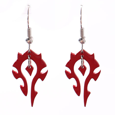 World of Warcraft Horde Drop Earrings
