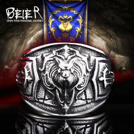 World of Warcraft Alliance Stormwind Lion Stainless Steel High Quality Men's Ring