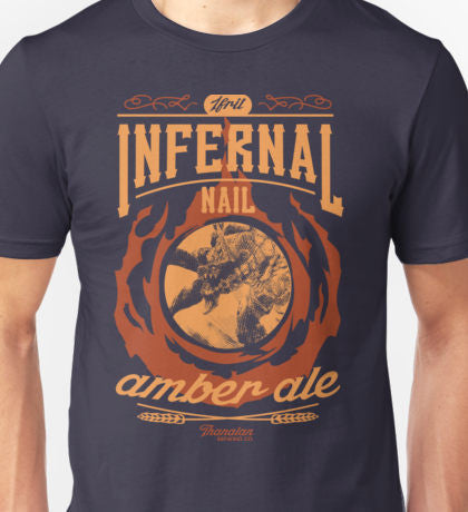 FFXIV Ifrit Infernal Nail Amber Ale Short Sleeve T-Shirt