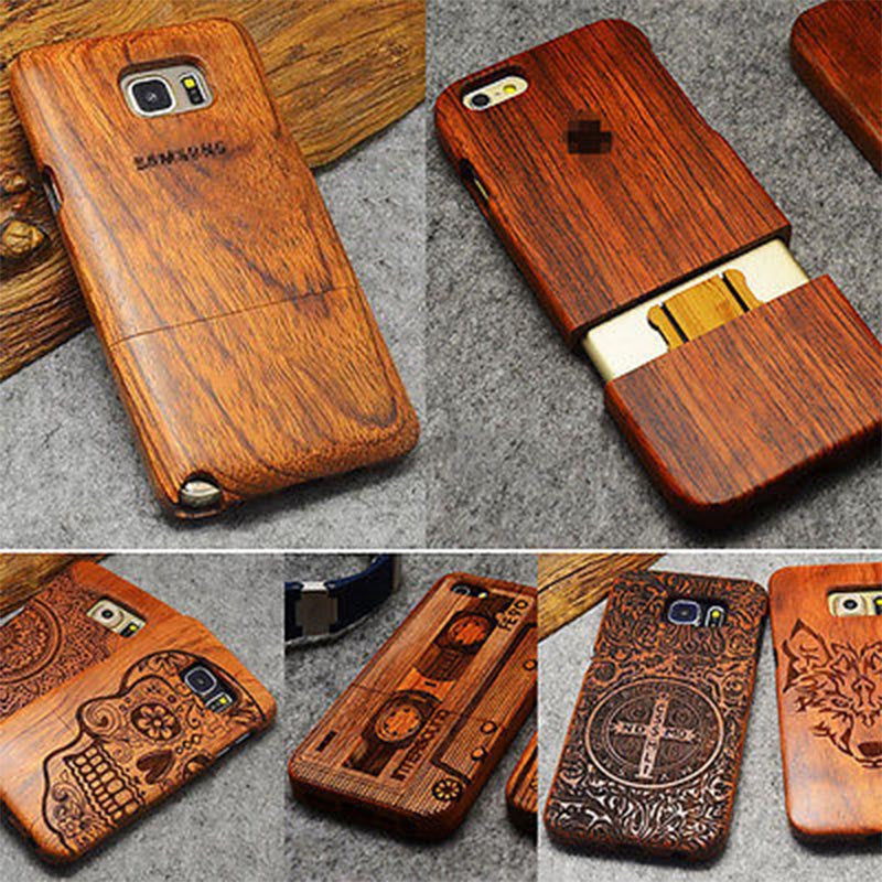 uk availability 45430 1242f Natural Wood Case & Screen Protector for Galaxy S7 & S7 Edge