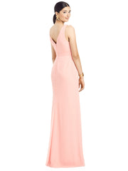 2020 Sleeveless Ruffle Faux Wrap Chiffon Gown - Chicago Bridal Store Company