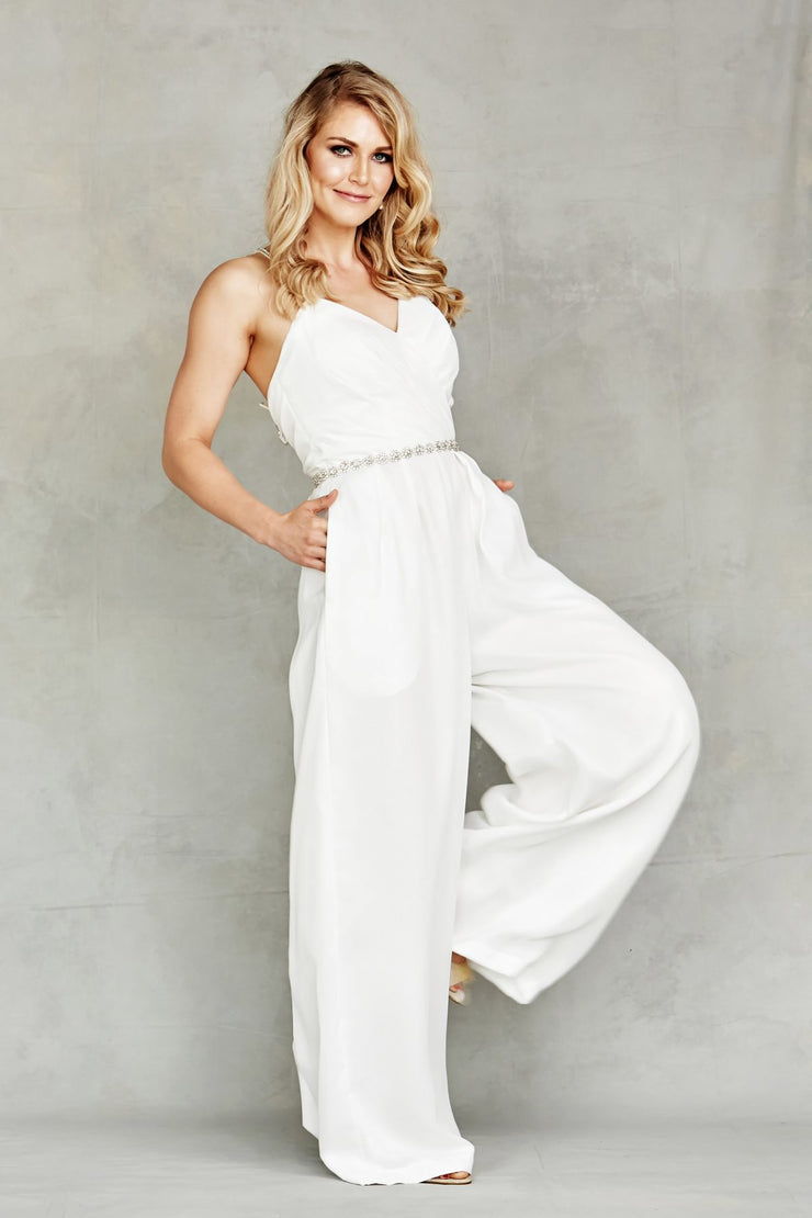Beaded Belt 2019 Bridal Jumpsuit - Chicago Bridal Store Company