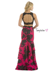 Size 6 Black & Hot Pink Long 2- Piece Dress - Chicago Bridal Store Company