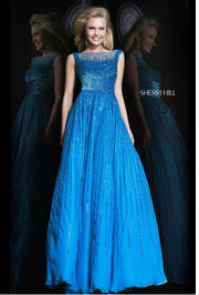 Last One-Sherri Hill- Size 18 Royal Blue - Chicago Bridal Store Company