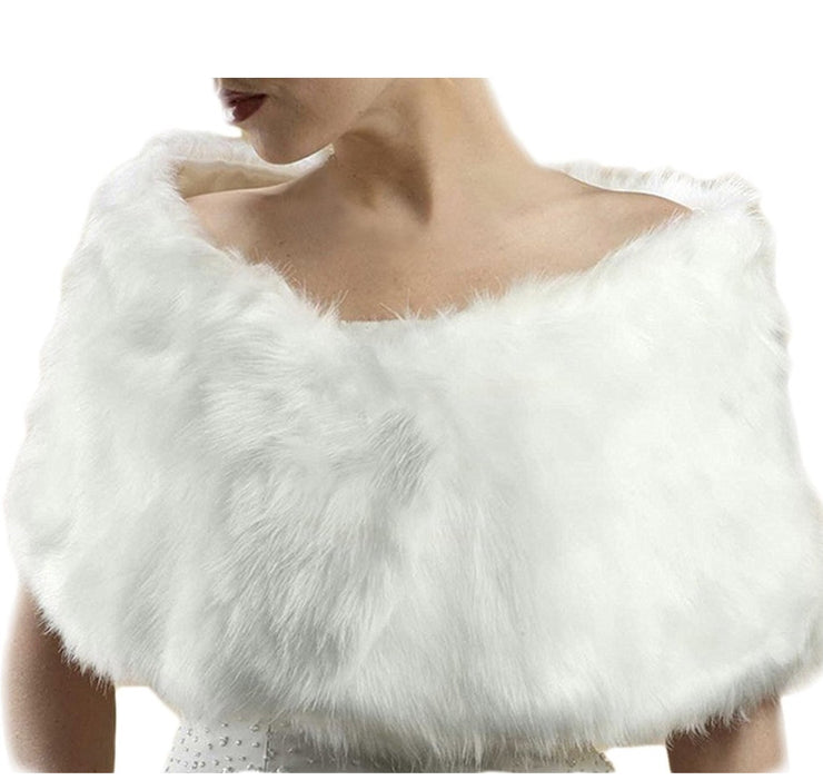 White Faux Fur - Chicago Bridal Store Company
