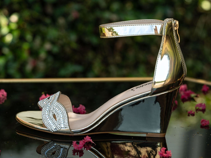 Miss Rachel Sliver Wedge Shoe - Chicago Bridal Store Company