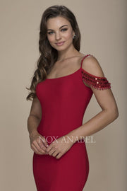 Red Mermaid Off Shoulder Dress  Prom Collection - Chicago Bridal Store Company