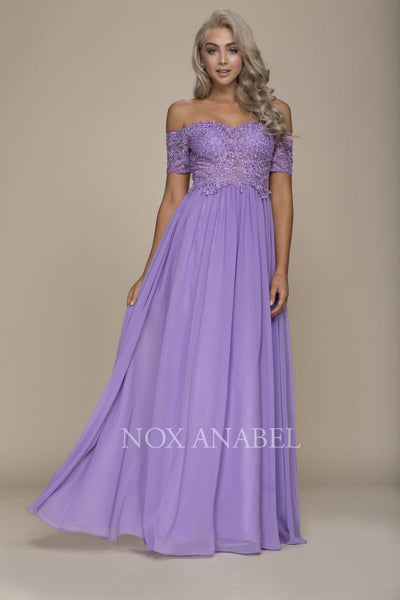 Lavender Off Shoulder 2018 Prom Dress - Chicago Bridal Store Company