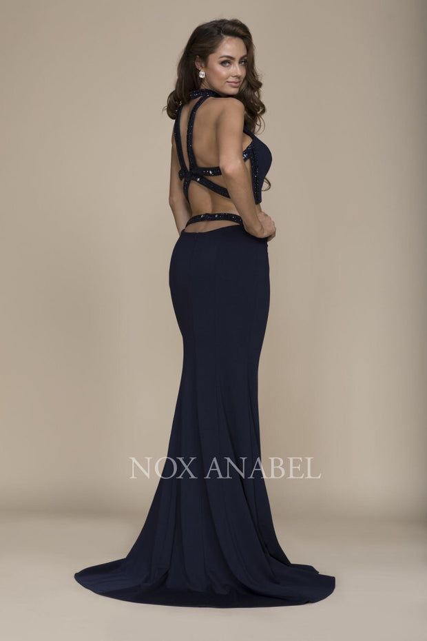 Navy 2-Piece Prom Stunner - Chicago Bridal Store Company
