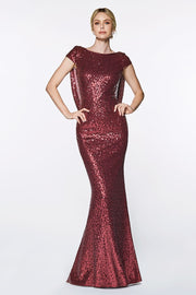 Red Sparkling Alexa Gown
