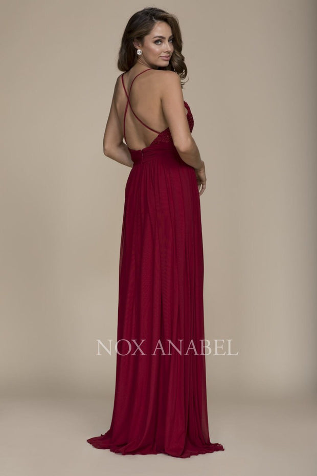 Burgundy Floor Length Dress 2018 Prom Collection - Chicago Bridal Store Company