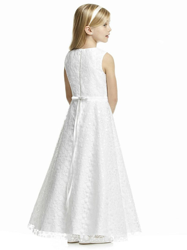 Ivory Sequin Dessy Flowergirl Dresses FL4056 - Chicago Bridal Store Company