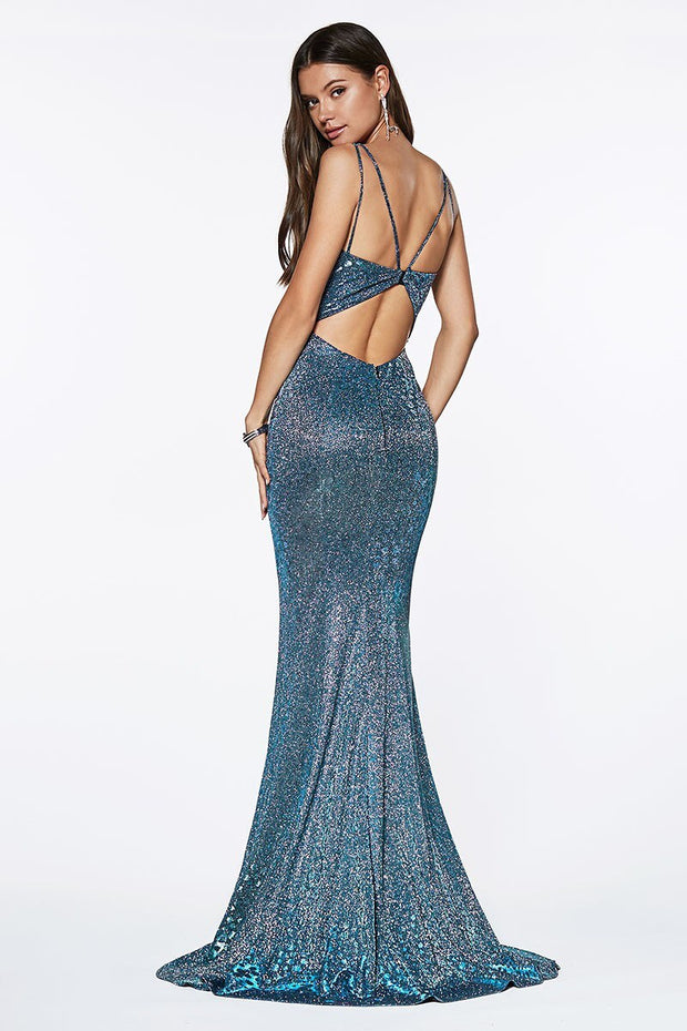 Mermaid Blue Gown - Chicago Bridal Store Company