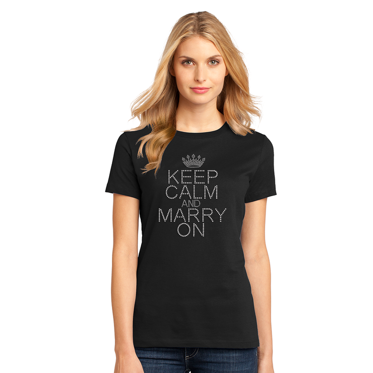 Keep Calm Marry On T-Shirt - Chicago Bridal Store Company
