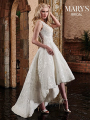 Tulle Lace Sweep Train Bridal Gown MB3028 - Chicago Bridal Store Company