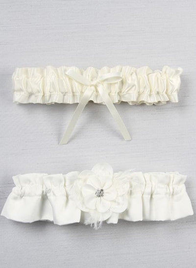 Somerset Garter Ivory or White - Chicago Bridal Store Company