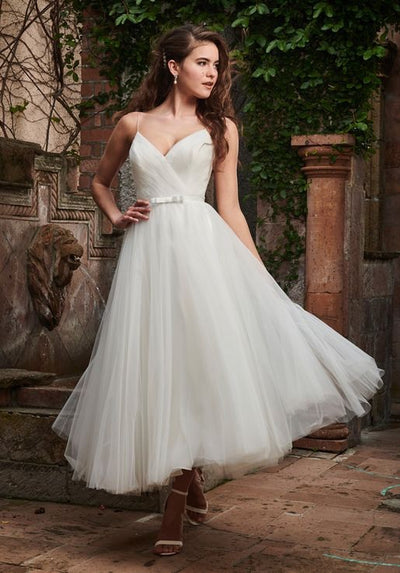Tea Length Vintage Designed Wedding Dress - Chicago Bridal Store Company