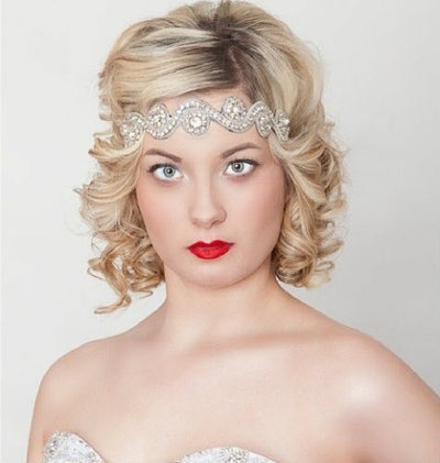 Miss Evelyn Headband - Chicago Bridal Store Company