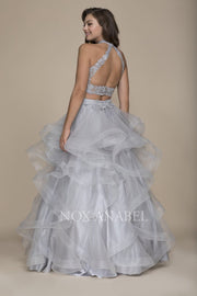 Breathtaking Gray 2-Piece 2018 Prom Dress - Chicago Bridal Store Company