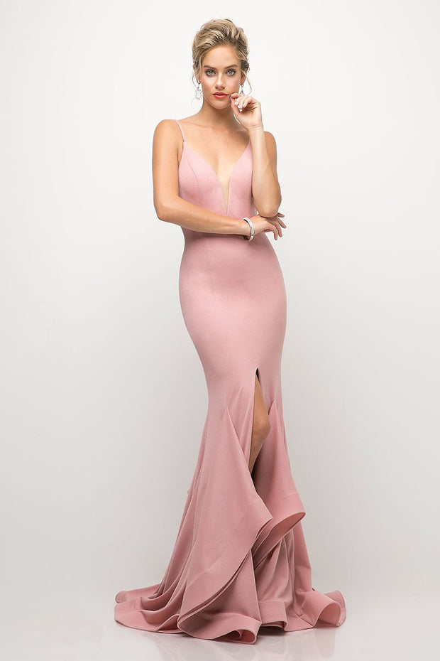 Amara Evening Gown in Dusty Rose - Chicago Bridal Store Company