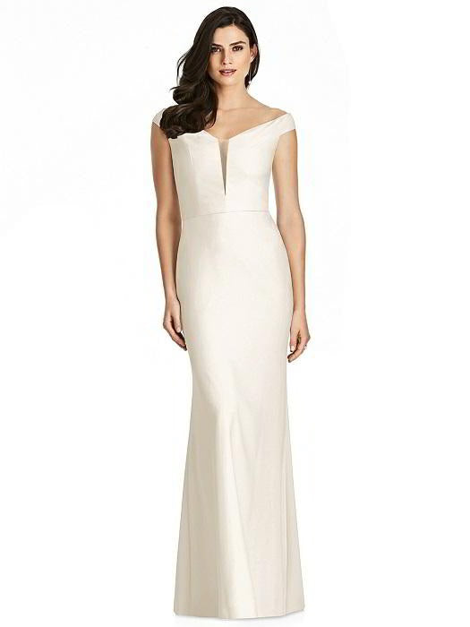 Off Shoulder Full Length Formal Gown 3016 - Chicago Bridal Store Company
