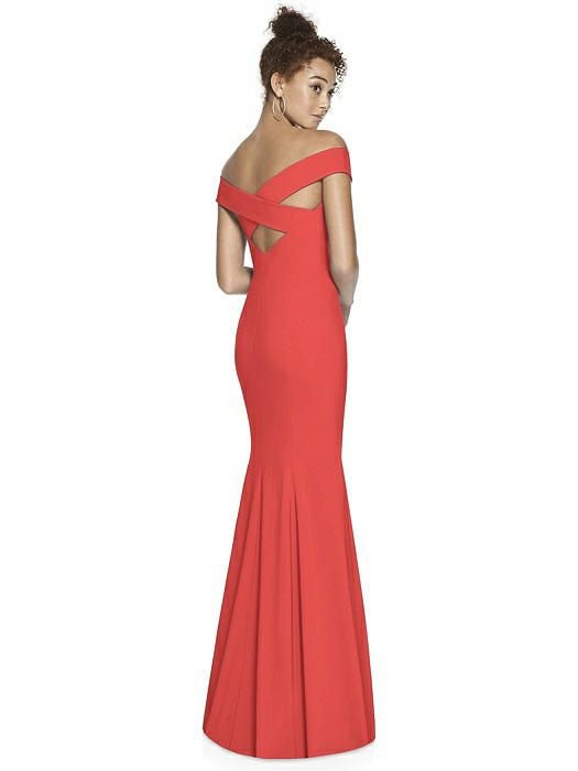 Crisscross Back Off Shoulder Full Length Formal Gown - Chicago Bridal Store Company