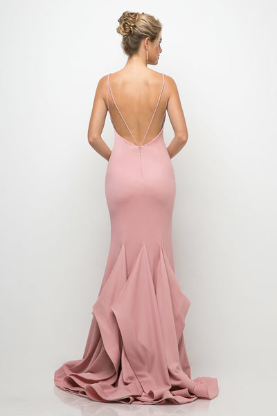 Amara Evening Gown in Dusty Rose