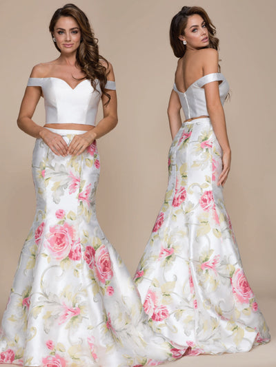 Floral Mermaid 2-Piece Dress - Chicago Bridal Store Company