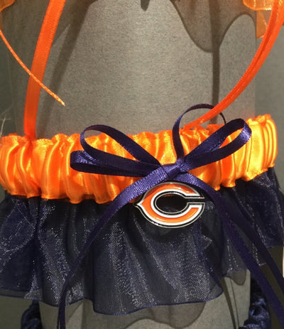 Chicago Bears NFL Wedding Garter Set - Chicago Bridal Store Company