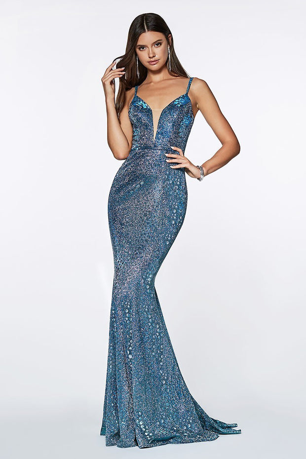 Mermaid Blue Gown