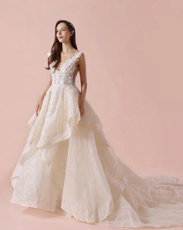 2018 H.Couture Wedding Dress Style 1733 - Chicago Bridal Store Company