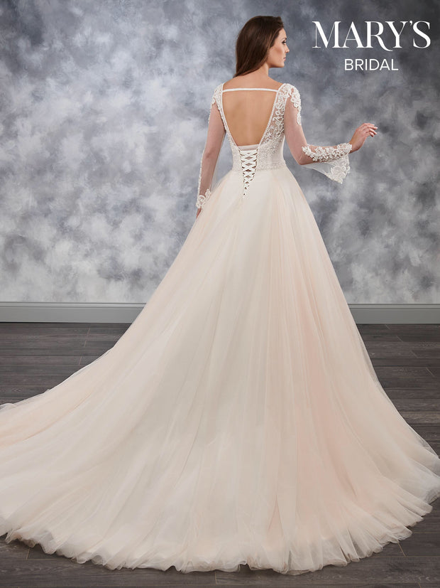 Tulle Ball Gown Wedding Dress MB3027 - Chicago Bridal Store Company