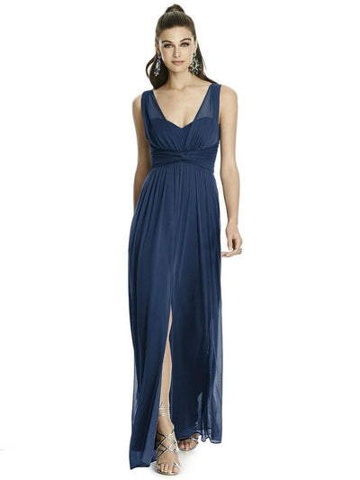 ALFRED SUNG BY DESSY D740 SPLIT FRONT BRIDESMAID DRESS- Chicagobridalstore.com - Chicago Bridal Store Company