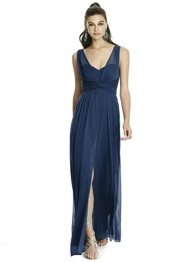 ALFRED SUNG BY DESSY D740 SPLIT FRONT BRIDESMAID DRESS- Chicagobridalstore.com