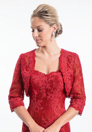 Fit and Flare Sleeved Mother's of Bride/Groom - Chicago Bridal Store Company
