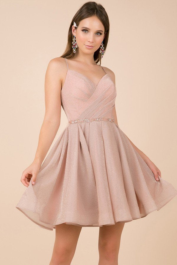 Blush Cocktail Length Dress - Chicago Bridal Store Company