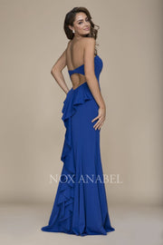 2018 Prom Royal Blue Strapless Dress - Chicago Bridal Store Company