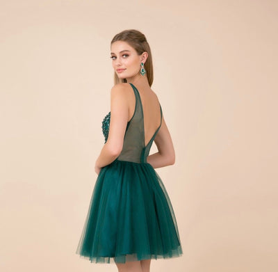 Enchanted Emerald Green Short Dress - Chicago Bridal Store Company