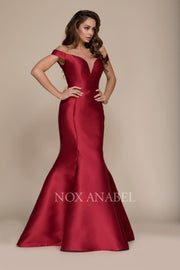 2018 BURGUNDY MERMAID PROM DRESS - Chicago Bridal Store Company